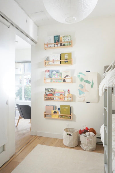 Too Many Shelves in a Small Space: Kids Room Update
