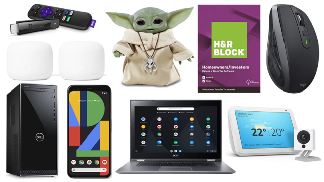 ET Weekend Deals: 50 Percent Off H&R Block Deluxe + State, Baby Yoda Animatronic Pre-Order Now, Acer Spin 15 Chromebook Only $329