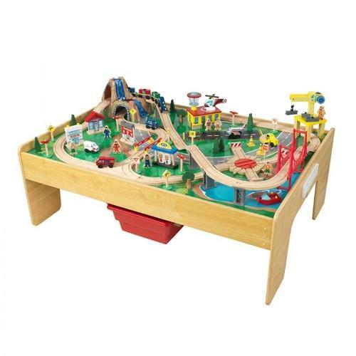 Adventure Town Railway Train Play Set and Table With EZ Kraft Assembly