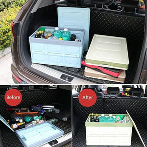 Collapsible Storage Bins Car Trunk