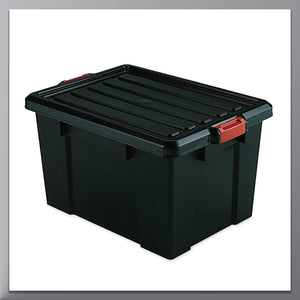 Heavy Duty Latch Storage bins with Lid,72-Quart