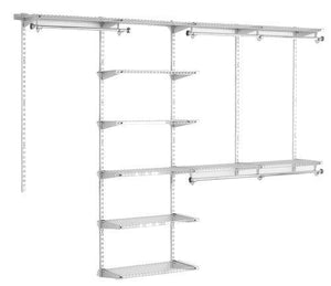 Budget friendly rubbermaid configurations deluxe custom closet organizer system kit 4 to 8 foot titanium fg3h8900titnm