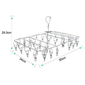 Cheap rosefray laundry clothesline hanging rack for drying sturdy 34 clips collapsible clothes drying rack great to hang in a closet on a shower rod and outside on a patio or deck