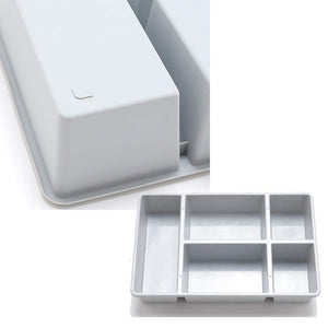 Purchase pro image drawer tray box organizer divider for pantry closet dresser kitchen bathroom desk 5 compartments storage 2 pack multi purpose
