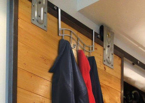 Related over the door rack with hooks 5 hangers for towels coats clothes robes ties hats bathroom closet extra long heavy duty chrome space saver mudroom organizer by kyle matthews designs