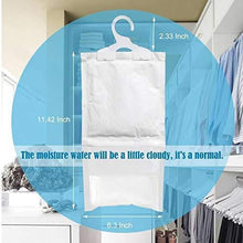 Load image into Gallery viewer, Get zmfh 10 pack moisture absorber hanging bags no scent max odor eliminator 220g dehumidification bags for closets bathrooms laundry rooms pantries storage