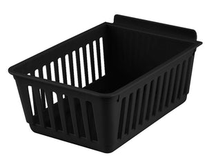Slatbox® Plastic Slatwall Storage Bins, Cratebox ''Long'', Black 8.5x5.75x3.37