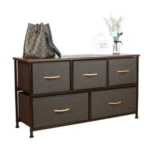 Select nice home dresser storage tower sturdy steel frame mdf wood top removable drawers height adjustable feet storage organizer for room hallway entryway closets 5 drawers espresso 39 5w 21 5h