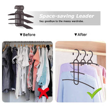 Load image into Gallery viewer, Amazon best upra shirt hangers space saving plastic 5 pack durable multi functional non slip clothes hangers closet organizers for coats jackets pants dress scarf dorm room apartment essentials