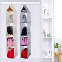 Load image into Gallery viewer, Select nice keepjoy detachable hanging handbag organizer purse bag collection storage holder wardrobe closet space saving organizers system pack of 2 grey