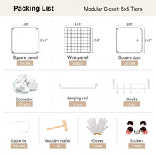 Load image into Gallery viewer, Products yozo modular closet portable wardrobe dreeser organizer clothes storage organizer chest of drawers cube shelving for teens kids diy furniture white 8 cubes