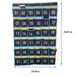 Related loghot numbered classroom sundries closet pocket chart for cell phones holder wall door hanging organizer blue 36 pockets with digital