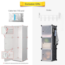 Load image into Gallery viewer, Related yozo modular closet portable wardrobe dreeser organizer clothes storage organizer chest of drawers cube shelving for teens kids diy furniture white 8 cubes