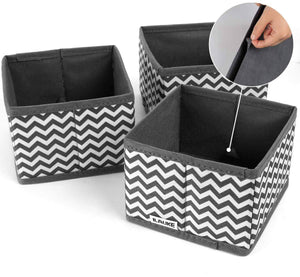 Discover ilauke drawer underwear organizers storage box foldable closet dresser drawers divider organizer fabric cloth basket bins for sock bras baby clothes set of 8 grey