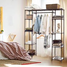 Load image into Gallery viewer, Organize with tangkula garment rack portable adjustable expandable closet storage organizer system home bedroom closet shelves clothes wardrobe coffee