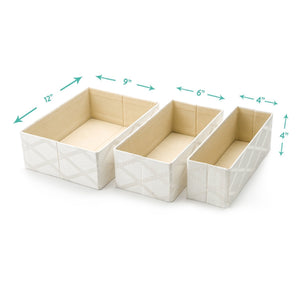 New foldable closet drawer organizer set of 3 storage containers moisture and dust proof storage baskets beautiful textured fabric sturdy build perfect for home and office galliana