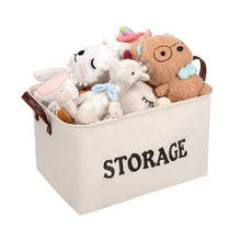 Load image into Gallery viewer, Cheap shinytime storage baskets bins large organizer toy laundry storage basket for kids pets home living room closet beige 2pcs