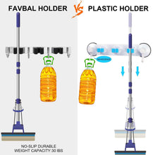 Load image into Gallery viewer, Shop here favbal 2pcs broom mop holder wall mount stainless steel wall mounted storage organizer heavy duty tools hanger for kitchen bathroom closet garage office garden