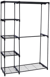 The best whitmor deluxe double rod freestanding closet heavy duty storage organizer
