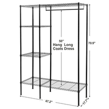 Load image into Gallery viewer, Amazon best songmics extra large shelving garment rack heavy duty portable clothes wardrobe free standing closet storage organizer ulgr12p