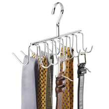 Load image into Gallery viewer, Products interdesign axis closet storage organizer rack for ties and belts chrome