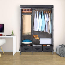 Load image into Gallery viewer, Online shopping lifewit full metal closet organizer wardrobe closet portable closet shelves with adjustable legs non woven fabric clothes cover and 3 drawers sturdy and durable