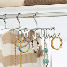 Load image into Gallery viewer, Order now interdesign axis closet storage organizer rack for ties and belts chrome