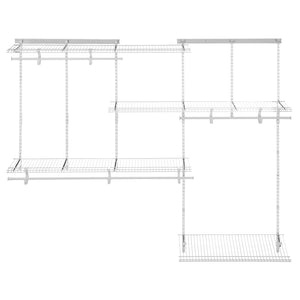 Storage organizer closetmaid 22875 shelftrack 5ft to 8ft adjustable closet organizer kit white