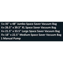 Load image into Gallery viewer, Great everyday home 83 79 vacuum storage bags space saving air tight compression shrink down closet clutter store and organize clothes linens seasonal items 25