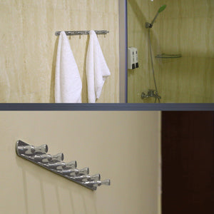Cheap webi 2 set sus 304 heavy duty 6 peg robe coat kitchen bath towel hooks bowling like wall door mounted garment hat rack hanger rail holder closet clothing garage home organizer storage polished iyz62