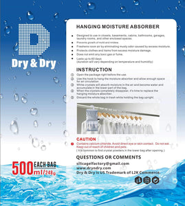 Best seller  dry dry 72 packs net 9 oz pack premium hanging moisture absorber to control excess moisture for basements closets bathrooms laundry rooms