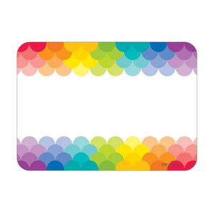 #13672 PAINTED PALETTE RAINBOW LABELS SCALLOPS