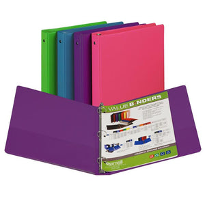 (12 Ea) Fashion Color Binder 1in Capacity