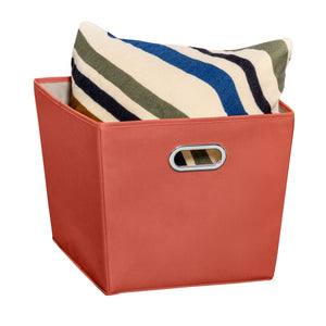 Large Storage Bin with Handles, Orange