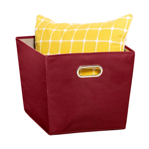 Large Storage Bin with Handles, Red