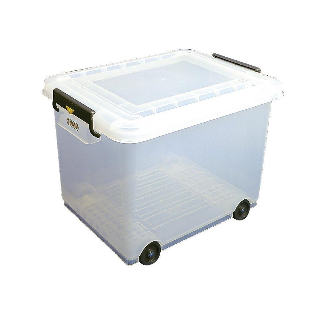 Araven Mobile Food Storage Bin with Lid 50Ltr