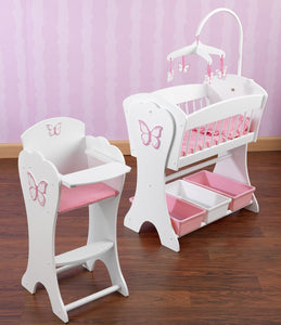 KidKraft Pretty Pink Butterfly Doll Furniture Set