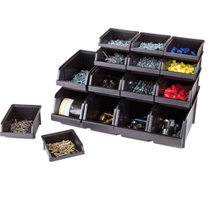 Flambeau Hardware 16 Storage Bin Assortment - Black
