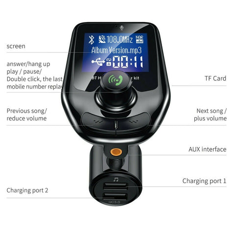 FM Transmitter Bluetooth FM Transmitter Bluetooth car Transmitter