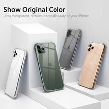 Load image into Gallery viewer, iPhone 12 Pro Max (6.7') 5G Shockproof Clear Case Cover Camera Lens Screen Protector