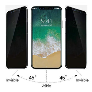 iPhone XS Privacy Anti-Spy Tempered Glass Screen Protector (2 Pack)