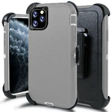 Load image into Gallery viewer, iPhone 11 Pro Max Heavy Duty Defender shockproof Belt Clip Holster case Grey