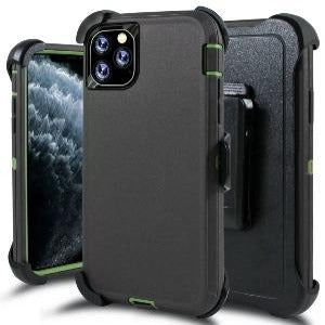 iPhone 11 Heavy Duty Defender shockproof Belt Clip Holster case Charcoal Green