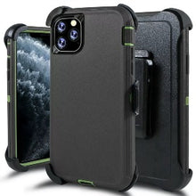 Load image into Gallery viewer, iPhone 11 Pro Max Heavy Duty Defender shockproof Belt Clip Holster case Charcoal Greem