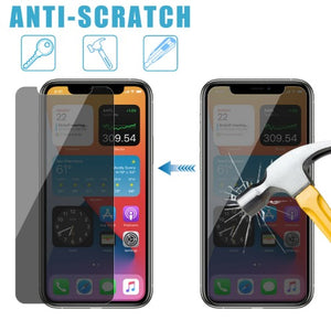 "iPhone 12 Mini 5,4"" Anti-Spy Privacy Tempered Glass Screen Protector 2-Pack"
