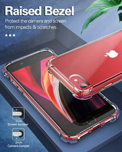Load image into Gallery viewer, iPhone 8 Clear Case Shockproof Hard Cover
