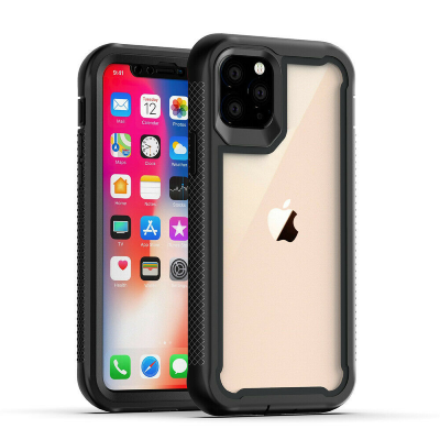 iPhone 11 Pro Max Heavy Duty Shockproof Hybrid TPU Armor Case Black