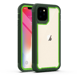 iPhone 11 Pro Max Heavy Duty Shockproof Hybrid TPU Armor Case Green