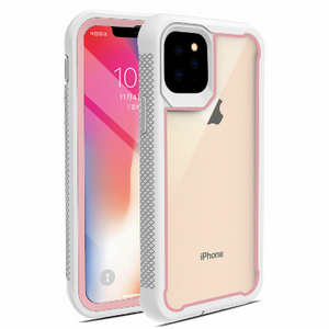 iPhone 11 Pro Max Heavy Duty Shockproof Hybrid TPU Armor Case White