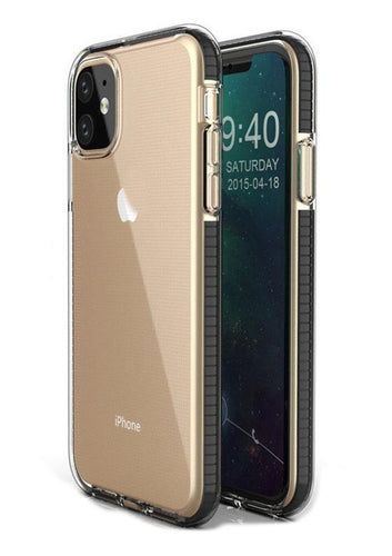 iPhone SE 11 Pro Max Dual Color Shockproof Clear Case